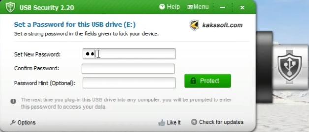 KakaSoft USBSecurity Screenshot