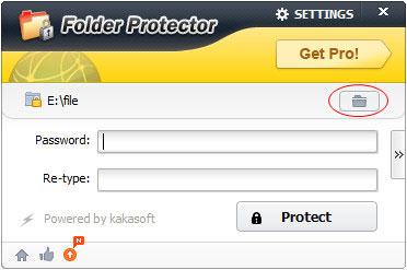 password protect folder