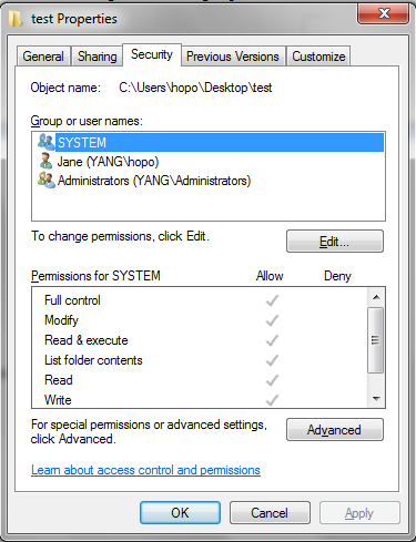 how to change folder permissions windows 8.1