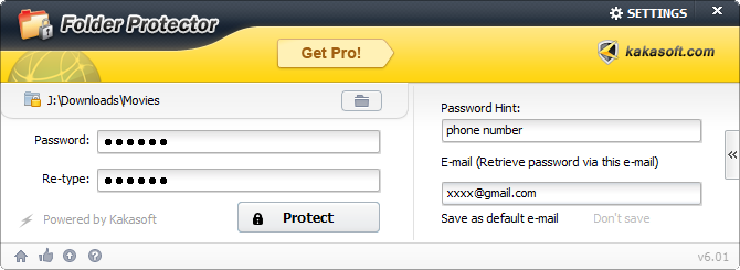 Kakasoft: USB Security, Copy protection, File/Folder Locking