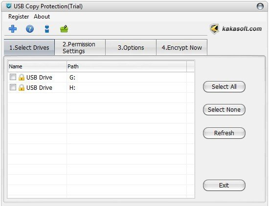 usb copy protection interface