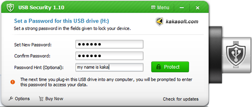 how to secure a usb