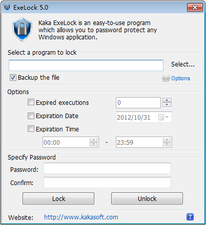 Password Protect Programs And Applications Exelock