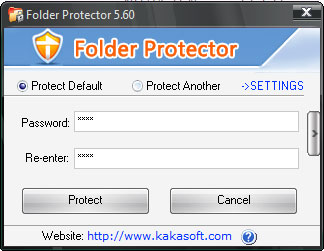 Click to view KaKa Folder Protector 5.73 screenshot