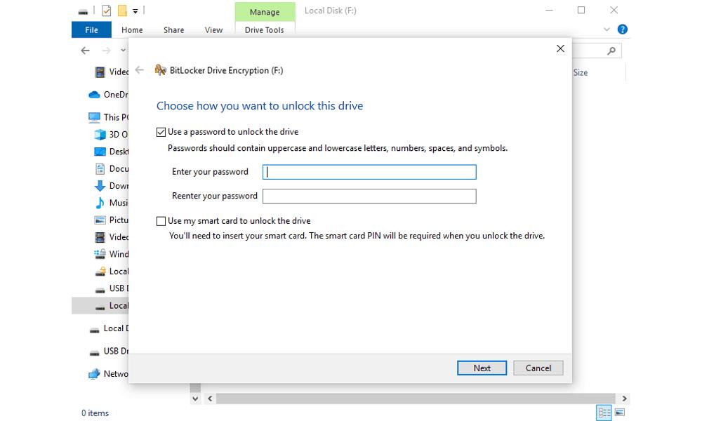 bitlocke drive encryption
