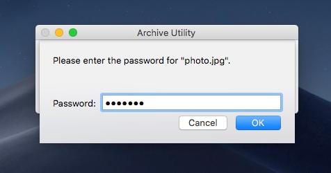 compressing to lock folder on mac
