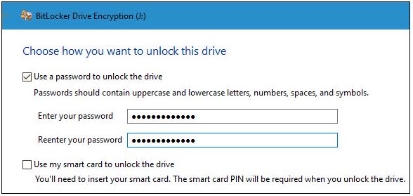 sd card encryption with bitlocker on windows