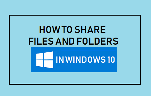share folder in windows 10