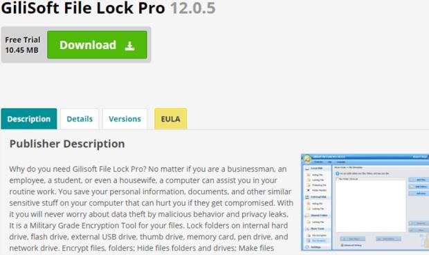 use Folder Gilisoft File Lock Pro to folder protection