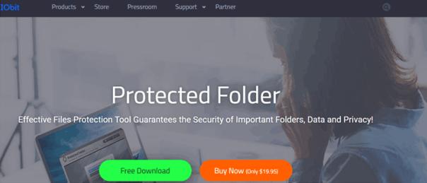 use IObit Protected Folder to folder protection