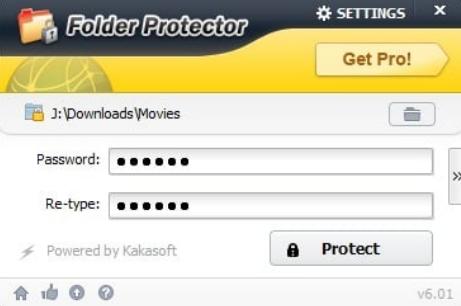 use Folder Protector (LockDir) to folder protection