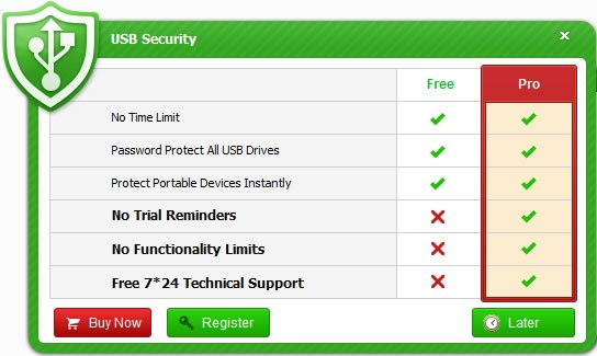 How to Register USB Security