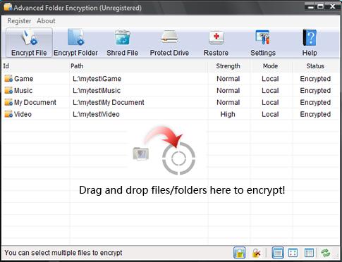 Lock Folder from Main Window