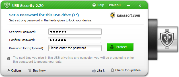 lock pen drive with usb security
